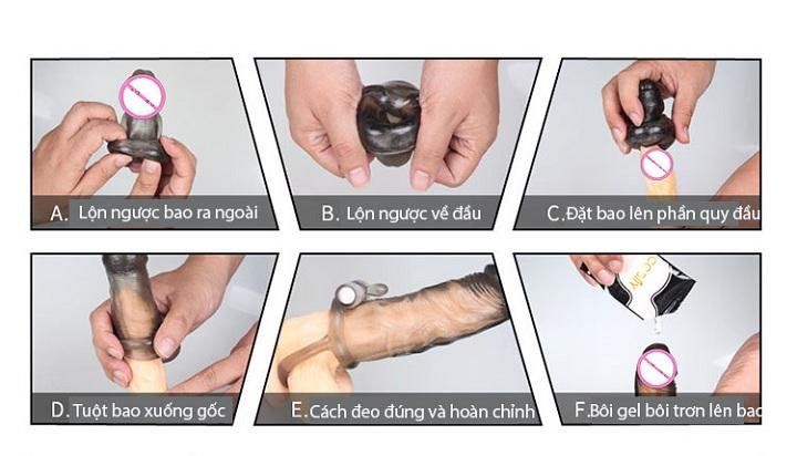 bao cao su don den co day deo hướng dẫn sử dụng