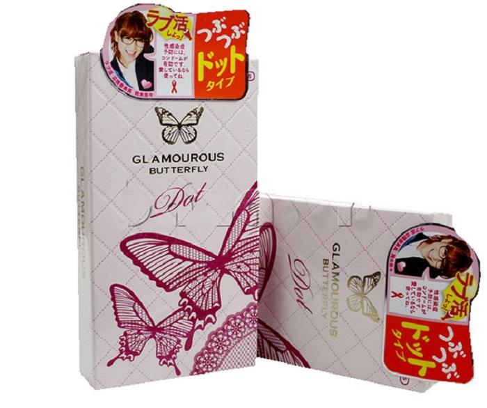 Bao cao su Jex Glamourous Butterfly Dot – Gia vị mới trong tình yêu