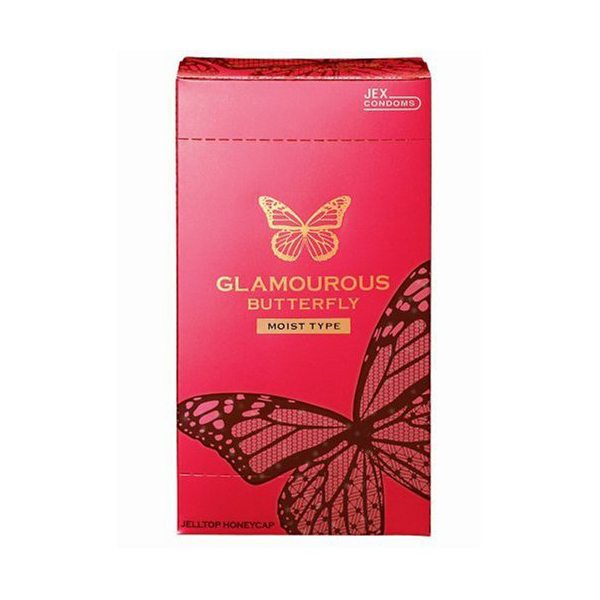bao cao su jex glamorous butterfly moist type hộp sản phẩm