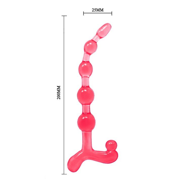 Dụng cụ mát xa hậu môn Baile Bendy Twist kích thước