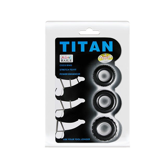 Vòng titan chống xuất tinh sớm cho nam giới Titan Chisa-Hard