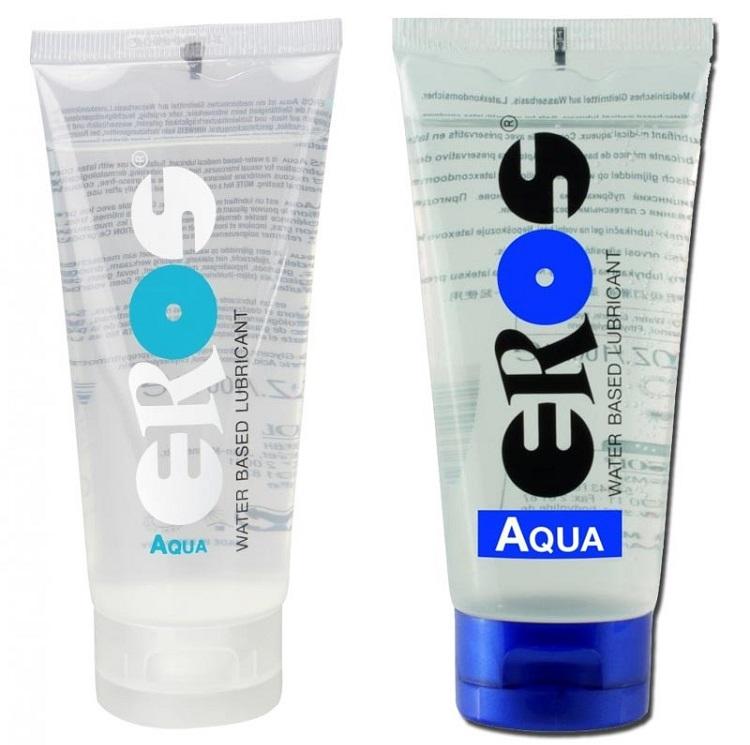 Gel bôi trơn gốc nước Eros Aqua bao bì sản phẩm