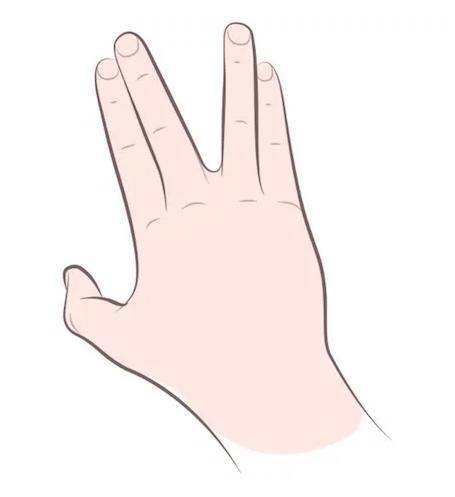 de tay hinh chu v