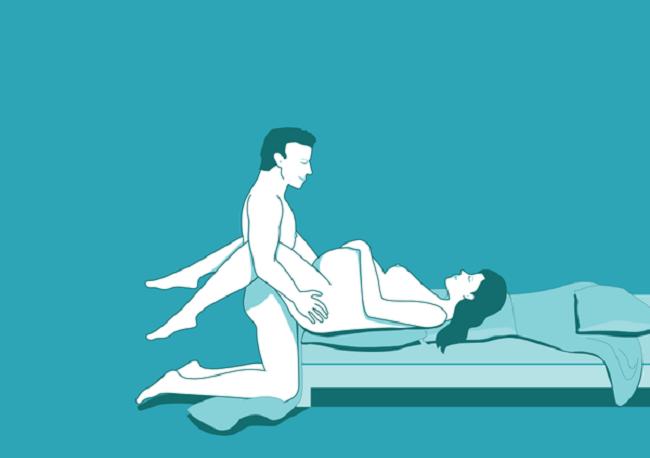 Một kiểu khác của tư thế truyền giáo có thể áp dụng khi mang thai
