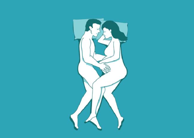 Tư thế quan hệ kiểu cây kéo khi vợ mang bầu