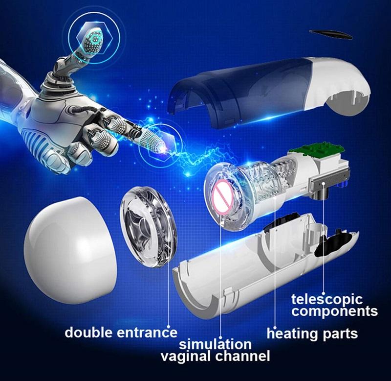 máy thủ dâm tự động điều chỉnh nhiệt cho nam các bộ phận bên trong