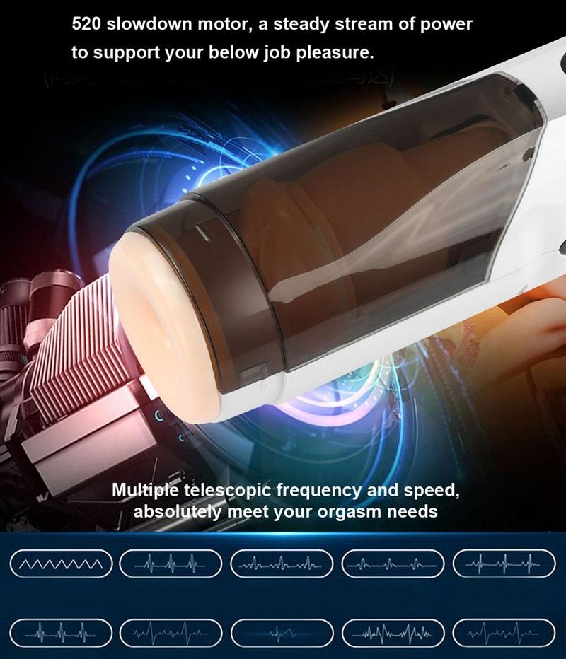 máy thủ dâm tự động điều chỉnh nhiệt cho nam có 10 tần số rung