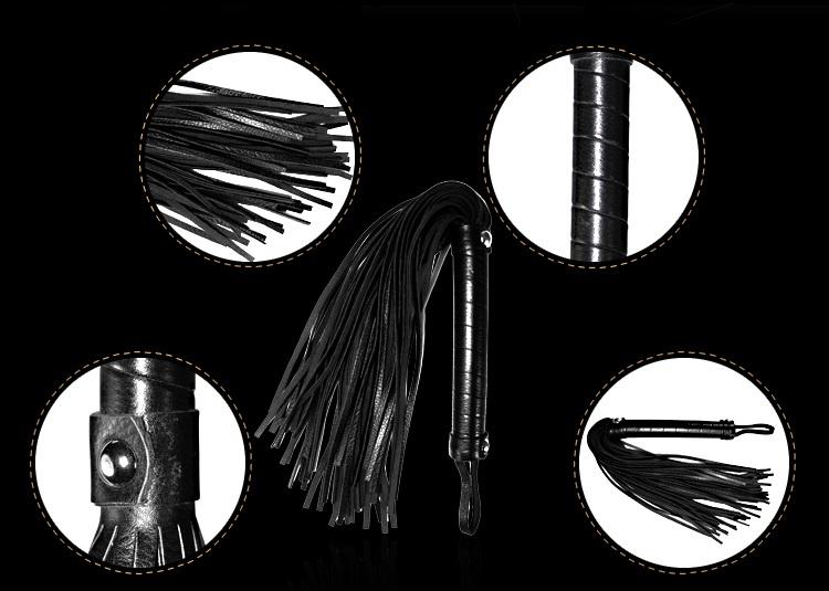 chi tiết roi da trong mistress bondage kit lovetoy